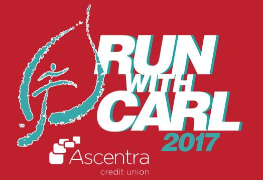 2017 Run with Carl leaf graphic with Ascentra sponsorship