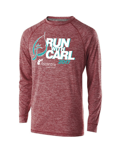 Long sleeve Run with Carl event t-shirt